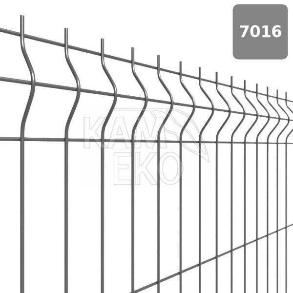 Panel ogrodzeniowy 3D grafitowy