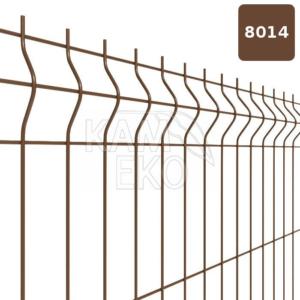 Panel ogrodzeniowy 3D brązowy