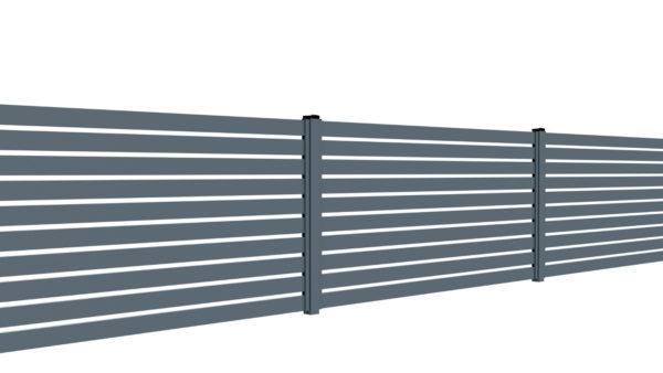 Ogrodzenie palisadowe na słupkach stalowych lub aluminiowych