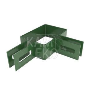 Obejma narożna 60x40 mm do paneli ogrodzeniowych