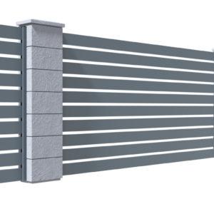 Ogrodzenie palisadowe na bloczkach betonowych