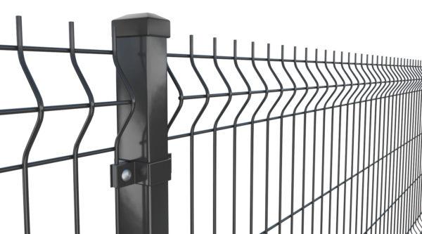 Panele ogrodzeniowe 3D czarne