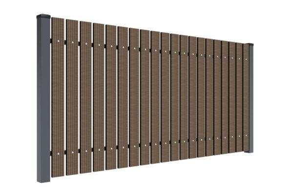 Przęsło ogrodzeniowe ze sztachet WPC