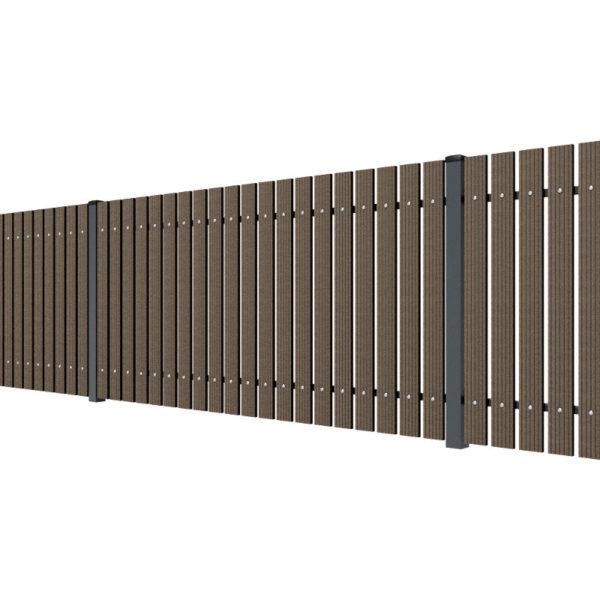 Ogrodzenie ze sztachet WPC brąz