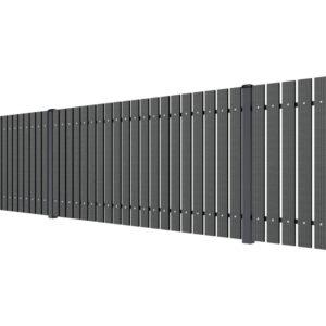 Ogrodzenie ze sztachet WPC grafit