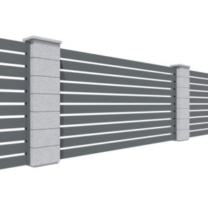 Ogrodzenie palisadowe ze sztachet 80x16 mm
