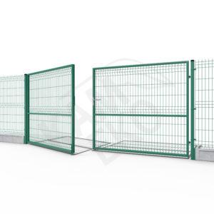 Brama dwuskrzydłowa zielona ocynkowana