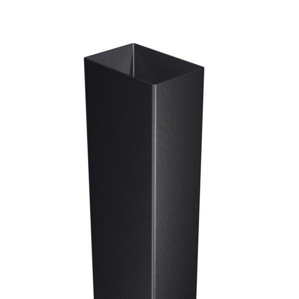 Słupek ogrodzeniowy 60x40 mm czarny