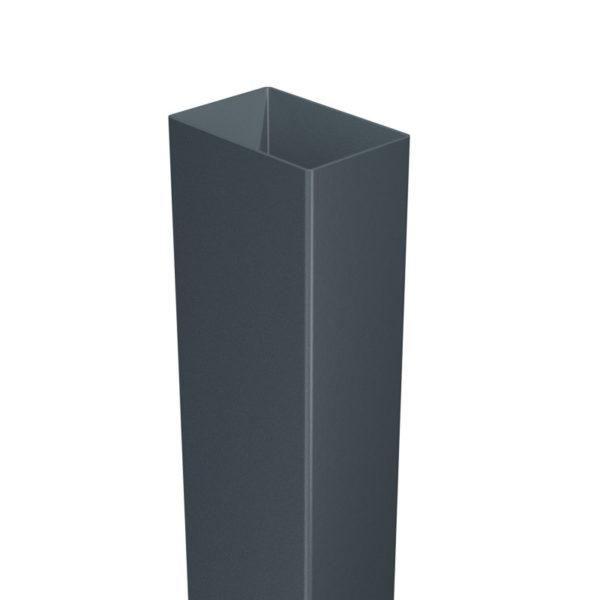 Słupek ogrodzeniowy 60x40 mm grafit