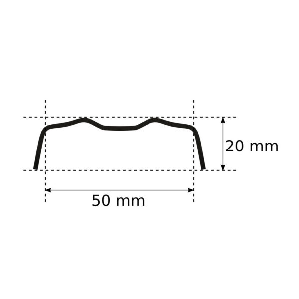 Klips metalowy 50 mm RAL 7016