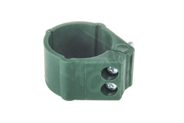 Klips plastikowy fi 48 bez śrub zielony
