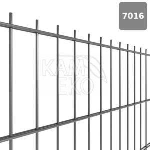 Panele ogrodzeniowe 2D fi 6/5/6 mm, 50×200 mm, ocynk grafitowy