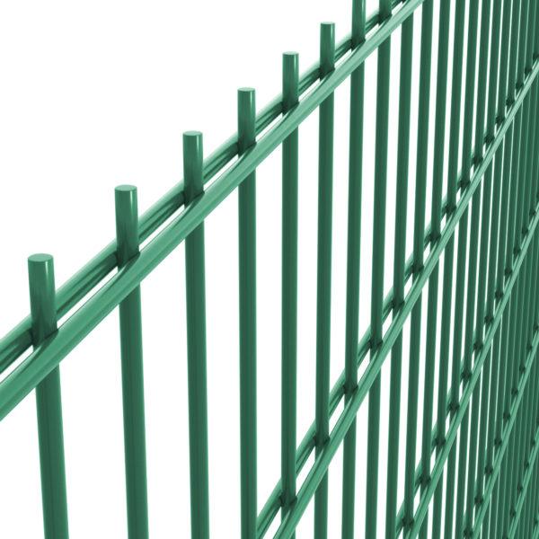 Panel ogrodzeniowy 2D fi 6/5/6 50×200 zielony